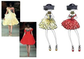 Fashion illustration Alexander Mcqueen SS13 by chiccas