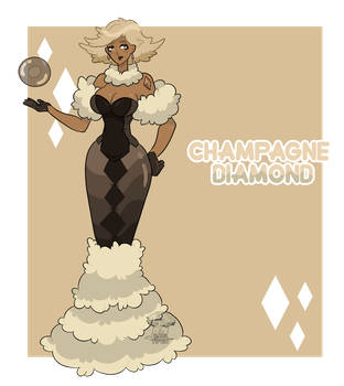 [CLOSED] - Gem Adoptables - Champagne Diamond by FlareViper