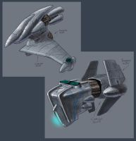 Concept spaceships by Anubiscomics