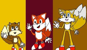 The Three Versions of Tails by HinataFox790
