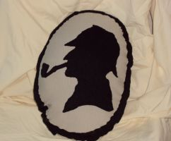 Sherlock Holmes Pillow by lost-in-twos