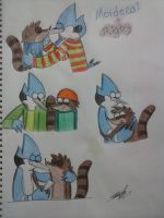 MordecaixRigby sketchs by IdalYaoiSonic1344