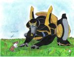 prowl and little bunny by ailgara