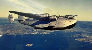 Dixie Clipper Over San Fran by plumpener