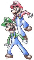 Mario and Luigi by DairyKing