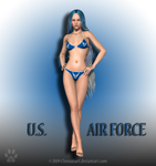 Veterans Day Babe-Airforce by chenoasart