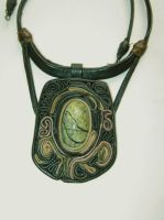 Leather necklace by EthnoBird