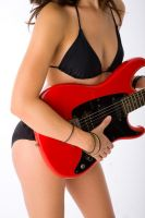 Red Guitar by JJImages