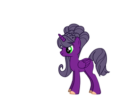 Purple pony by Jelenadbz
