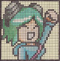 Ramona Flowers Pixel Post-it by The-Paxman