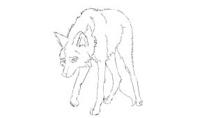 wolf lineart 8 by CookieCannibleSofiel