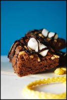 Rocky road brownies by kaiminamoto