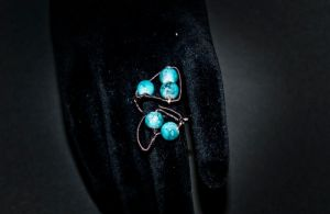 rings - turquoise wrapping by Sizhiven