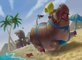 Glamour Hippo by Sprintener