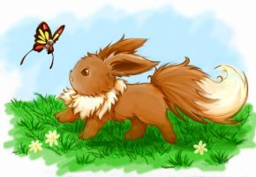 Eevee by ColorMeltdown