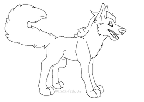 Free to Use Wolf base~ by Freddy-Fazbutts