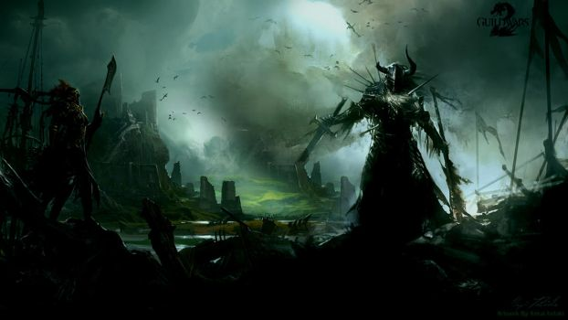 GW2 Fight Wallpaper by AngelicBond