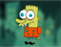 Sponge Bart simpsonpants by Makinita