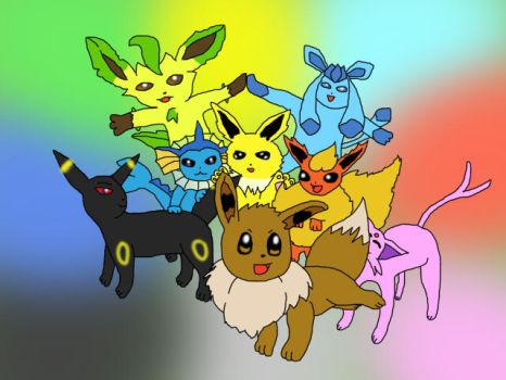 Eevee's family by Ludichat