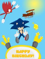 Sonic Birthday Wrap by THAT1guyinmyCAR