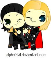 Thor and Loki HUG by Alpha993I