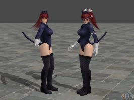 DOA5 Phase 4 Costume 35 Fairy Tail Mashup by rolance