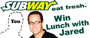 Eat With Jared SUBWAY contest by toadking07