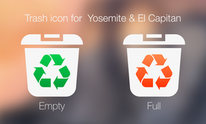 Trash icon for OS X Yosemite and El Capitan by TigerCat-hu