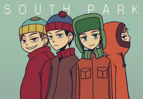 south park kids by spidergarden666
