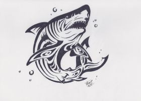 Tribal Shark by LilliM00
