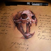 Lion skull by psdeluxe