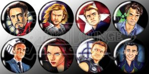 The Avengers - Button Set FOR SALE by Rider4Z