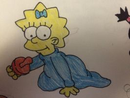 Maggie Simpson by Pichu8boy2Arts