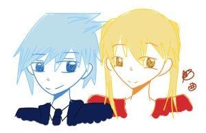soul and maka + blueberry + mango by asdfwaffles