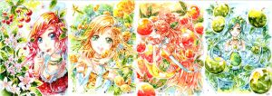 Cherry Lemon Orange Apple by Risa1