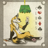 Clubs The card Fox by ToxicUnicorns