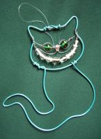 Turquoise Cheshire Cat by SneddoniaDesigns