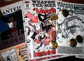New comics and button by javierhernandez