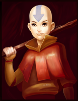 Avatar Aang by AlineMendes
