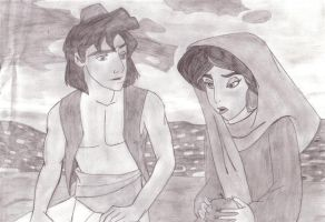 Aladin and Jasmin by perfectpureblood