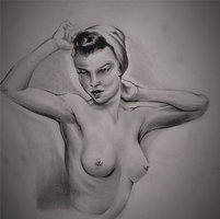 Pin-Up Warm Up Sketch by danXbaker