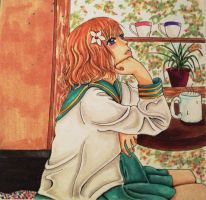 After School Coffee by Watercolur