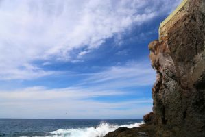 Cliffsides and Parasailing by mayaozden