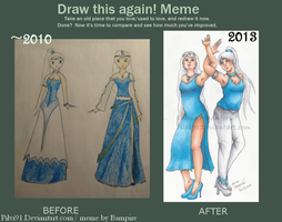 Redrawing Crappy Old Drawings-Suvi and Adele by Pilvi91