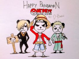 Trio Monster SHP #HappyPandaman by Dika-Brew