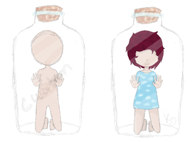 Bottle Adopts (CUSTOMS FREE) by oO0RyuuHeartsYou0Oo
