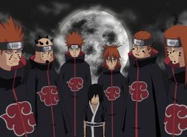 Six Path Of Pain and Nagato by Jim1088