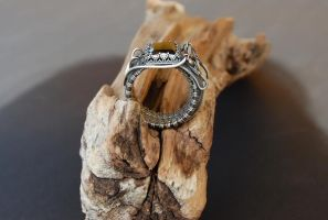 exclusive ring, natural hematite by Atalia65