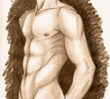 Male muscle study by RogueRider