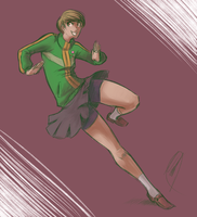 Quick Chie Scribble by JakkRobbit